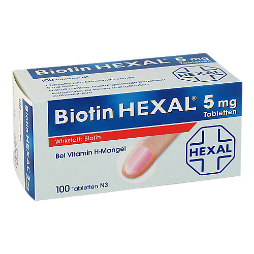 BIOTIN HEXAL 5 mg Tabletten