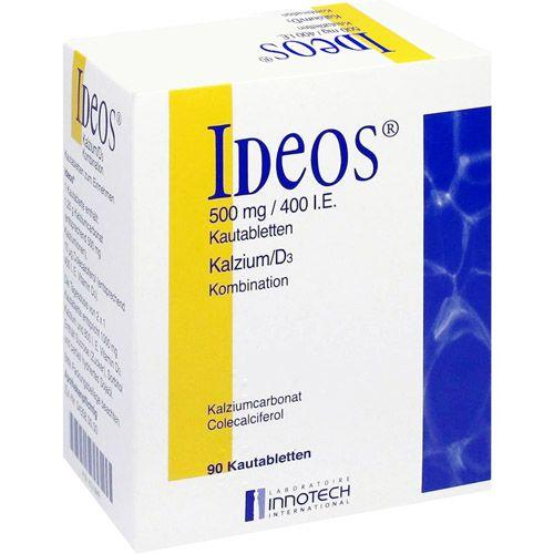 Laboratoire Innotech International IDEOS 500 mg/400 I.E. Kautabletten 90 St 160913