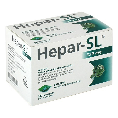 MCM Klosterfrau Vertriebsgesellschaft mbH HEPAR SL 320 mg Hartkapseln 200 St 558965