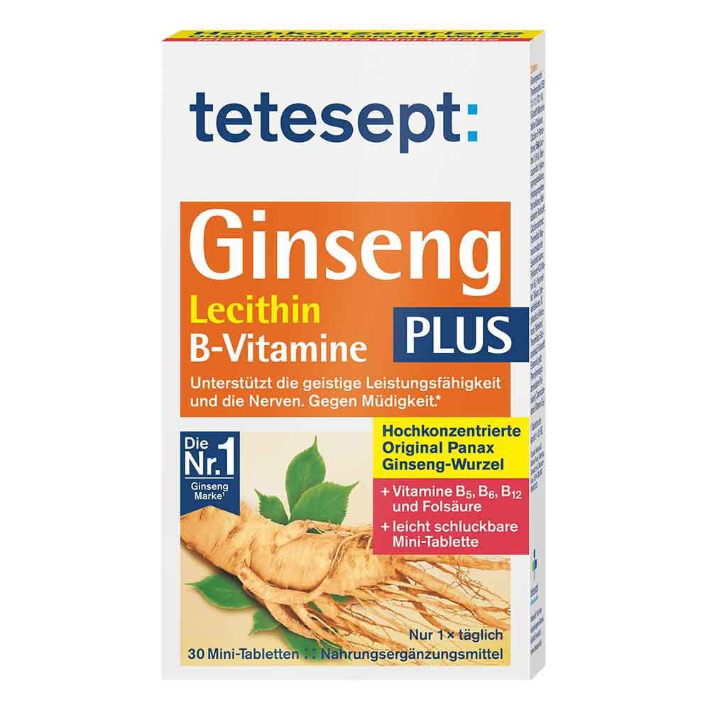 Merz Consumer Care GmbH TETESEPT Ginseng 330 plus Lecithin+B-Vitamine Tab. 30 St 22448